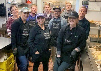 Serving at the Denver Soup Kitchen